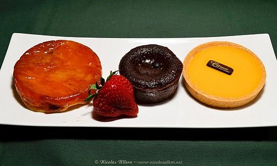 L'Oriflamme, Tartes Citron et Tatin, Fondant au Chocolat, Fraise
