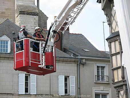 Angers, Pompiers à la Maison d'Adam