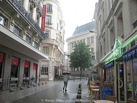 Angers sous l'orage