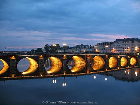 Angers, le Pont de Verdun au couchant