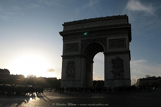 Paris, l'Arc de Triomphe