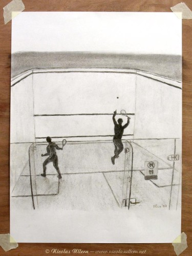 Squash Players (format A4+)