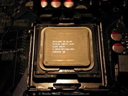 Le Q6600 sur son ancienne carte-mère