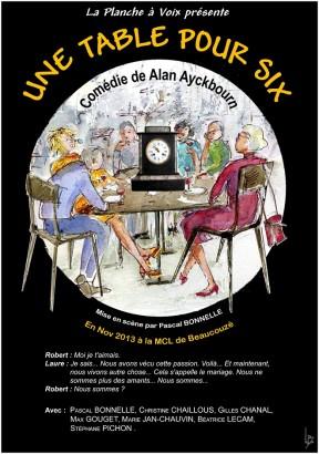 «Une Table pour Six» (Affiche)