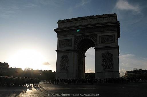 Paris, l'Arc de Triomphe