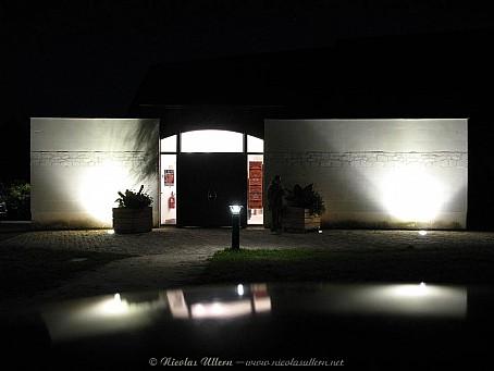 Soulaines sur Aubance, la Grange aux Dîmes de nuit