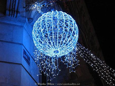 Angers, décorations de Noël